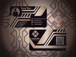 conception de motifs décoratifs de carte de visite de luxe vecteur
