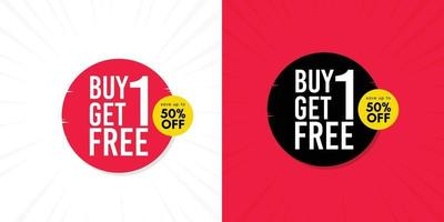 acheter 1 obtenir 1 modèle de bannières de vente gratuit. vecteur