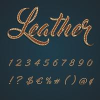 Jeu de caractères en cuir réaliste, illustration vectorielle vecteur