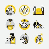 nouvelles icônes de signe public de protocole normal vecteur
