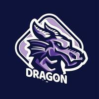 logo de jeu de mascottes de dragon vecteur
