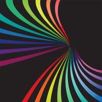 Lignes colorées en 3D sur fond noir, illustration vectorielle vecteur