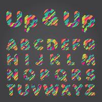 Jeu de caractères colorés, illustration vectorielle vecteur
