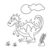 dinosaure mignon. dinosaure. illustration vectorielle en style doodle et dessin animé vecteur