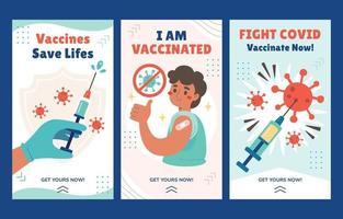 ensemble de bannières de vaccin covid 19 vecteur