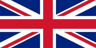 drapeau du royaume-uni uk aka union jack vecteur