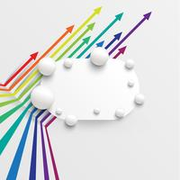 Modèle coloré et propre avec des flèches, illustration vectorielle