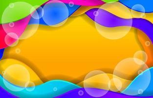 fond abstrait de style paperart vague colorée vecteur