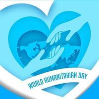 affiche de la journée humanitaire mondiale vecteur