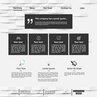 Modèle de site Web moderne pour les entreprises, illustration vectorielle