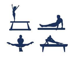 définit la conception de sport de gymnastique rythmique 2020 jeux icônes vectorielles abstraites vecteur