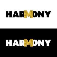 t-shirt harmonie imprimé avec ensemble de feuilles d'or vecteur
