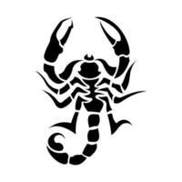 illustration de tatouage de scorpion tribal vecteur