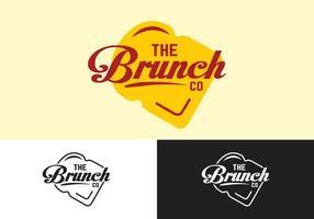 le concept de logo de restaurant brunch vecteur