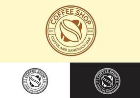 concept de logo de café vintage vecteur