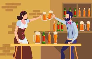 célébration de la journée internationale de la bière vecteur