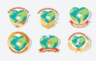 journée mondiale de l'activisme humanitaire vecteur