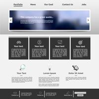Modèle de site Web moderne pour les entreprises, illustration vectorielle vecteur