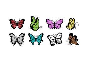 illustration du modèle de conception icône papillon vecteur