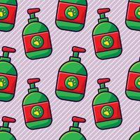 illustration de modèle sans couture de shampooing pour animaux de compagnie vecteur