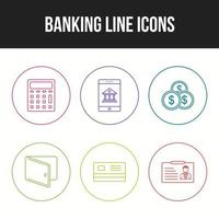 icônes bancaires à usage personnel et commercial vecteur