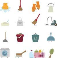 jeu d & # 39; icônes de nettoyage vecteur