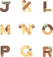 robot jr alphabet vecteur
