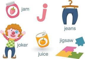 alphabet j ensemble vecteur