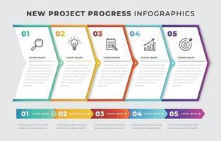 nouveau modèle d'infographie de projet vecteur