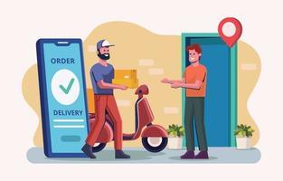 service de livraison en ligne vecteur