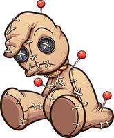 poupée vaudou de dessin animé vecteur