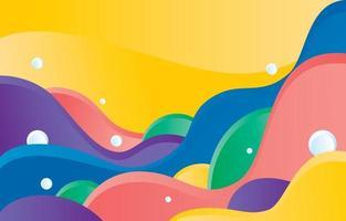 fond de forme ondulée colorée vecteur