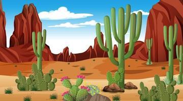 paysage de forêt du désert à la scène de jour vecteur