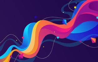 abstrait ondulé dégradé coloré vecteur