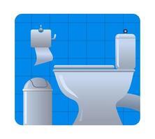 icône de la salle de toilette vecteur