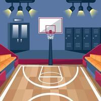 fond de terrain de basket vecteur
