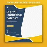 modèle de médias sociaux d'agence de marketing numérique. vecteur