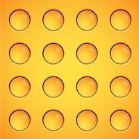 Fond de bulles jaunes, vector