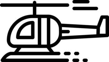 icône de ligne pour hélicoptère vecteur