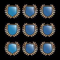 ensemble d'éléments de logo de bouclier vecteur