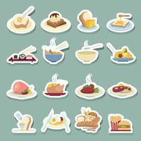jeu d & # 39; icônes de nourriture vecteur