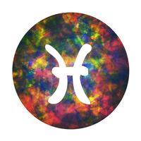 Un signe du zodiaque des poissons, illustration vectorielle