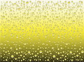 Gouttes d'eau réalistes sur un verre ordinaire, illustration vectorielle