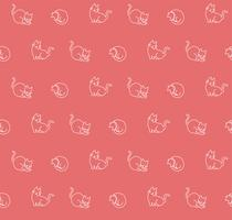 Modèle sans couture de chats dessinés à la main, illustration vectorielle vecteur