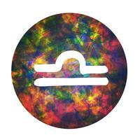 Un signe du zodiaque de la balance, illustration vectorielle