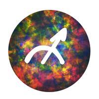 Un signe du zodiaque de sagittaire, illustration vectorielle