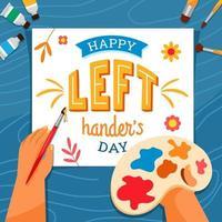 artiste peignant le jour des gauchers vecteur