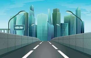 fond de paysage urbain atmosphère urbaine vecteur