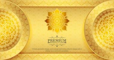 fond de modèle de mandala d'or de luxe vecteur