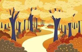paysage d'automne fond de paysage vecteur